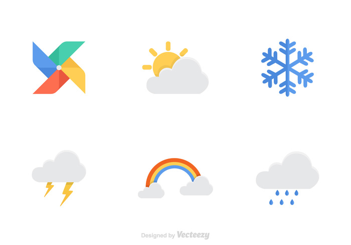 white weather vane weather vector vane symbol sunny sun summer snowing snowflake sign red rainbow rain pictogram partly paper origami object nature isolated image illustration icons icon graphic forecast flat element design color cloudy Cloudscape cloud blue