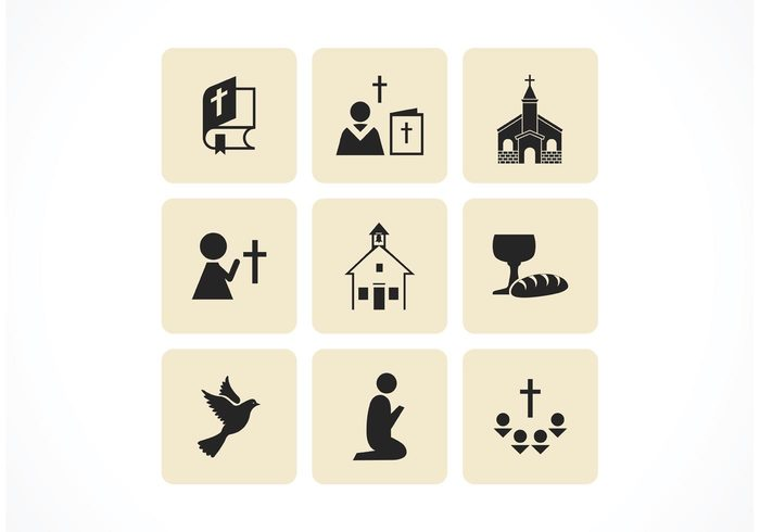 vector set prayer peace nativity monogram modern jesus icons icon hope holy heart hand god dove crown cross Churches christmas Christianity christian christening Christ catholic book bird bible