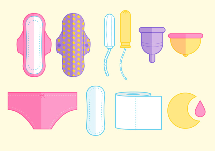 woman wing vector vagina towel toilet tampon soft sign set Sanitary reusable protection period pad natural napkin moon menstruation menstrual medical lunar luna line art kawaii isolated illustration icon Hygiene Healthy health female drawn design daily cycle cute cup cotton clean care applicator adorable