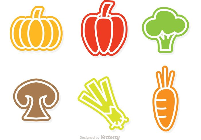 vegetables vegetable pumpkin pepper outline food outline mushroom isolated healthy diet Healthy fresh veggies Fresh vegetables fresh food food icon food eat Diet colorful carrot broccoli isolated broccoli