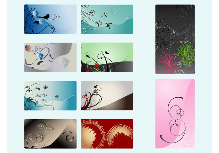 trees swirls spring plants nature greeting cards flowers floral Fireworks Ferris wheels celebration business cards Backgrounds abstract