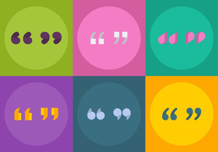 word vector token text template symbol speechmark speech sign shape set round quotemark quote quotation mark quotation quality mark label inverted information illustration icon graphic flat end double creative concept Colourful colorful circle button blockquote badge background art app