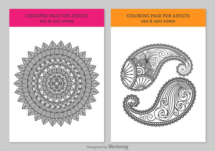 white vector therapy Sketchbook sketch silhouette round picture pen pattern paisley painting page meditation Mandala line kids isolated ink indian illustration henna hand free flower drawn drawing doodle difficult detailed design coloring pages coloring circle children book black background Adult