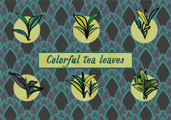18b2mpneeerl038 Free Various Tea Leaves Vector Background