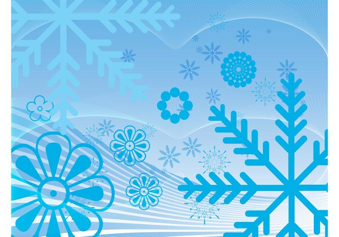 winter weather wallpaper snowflakes Snow vector plants nature lines frost floral decoration crystals cold background abstract