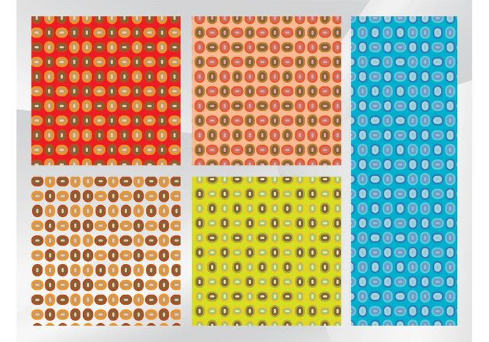 wallpapers vintage seamless patterns geometric shapes Ellipses colors colorful Clothing prints Backgrounds Backdrop images abstract 80's