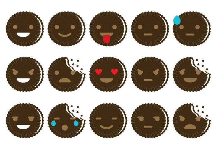 vector sweet sugar Smile party Oreo orange mascot lovely kid illustration happy fun emojis emoji dessert design delicious decoration cute cream cookies colorful clip art chocolate choc celebration cartoon card Bubble Talk brown birthday bakery background
