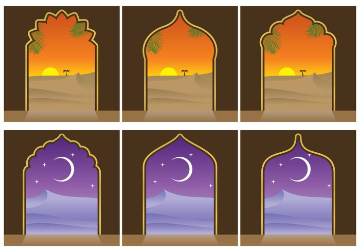 wilderness warm twilight tropical travel traditional tourism summer starry star sky silhouette shine sand sahara outdoors ornate ornament night nature moon landscape islamic Islam hill exotic exit entrance east Dune door desert dark culture crescent climate beauty background arch arabic arabian nights arabian arab antique ancient africa