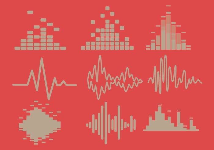 Waveform volume voice vibrations track techno Soundtrack sound bars sound Song record music mp3 light level frequency equalizer equaliser electronic effect disco broadcast board bars bar audio