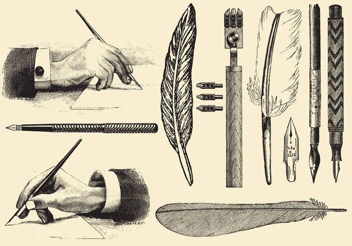 writing white vintage vector symbol sketch set revival retro quill pen nib pen old obsolete objects nib line isolated inkwell ink image illustrations hand graphic glasses free feather engraving engraved education drawn drawing doodle dirty design contour calligraphy black Backgrounds arts art antique ancient