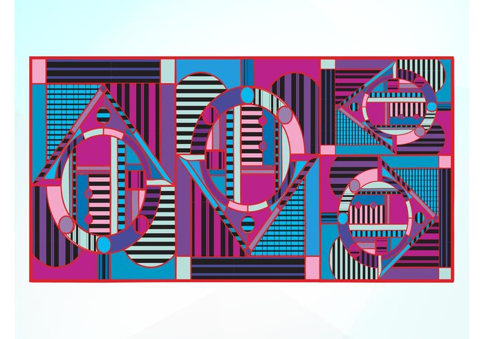 wallpaper triangles stripes round rectangular Rectangles lines Geometry geometric shapes Ellipses colors colorful circles background abstract art