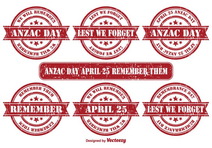 world white war veterans vector stamp vector text stamps stamp space soldier set rubber stamp remembrance day remembrance remember them remember red poppy one new memory memorial lest we forget lest hat grunge forget flower design day concept beautiful badge set background Australian Australia army april 25 April anzac day anzac abstract