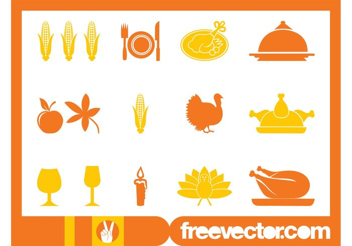 turkey thanksgiving Roast turkey plate Meals meal leaf knife icons icon holiday fork food eat dish cutlery corn on the cob corn celebration candle apple animals