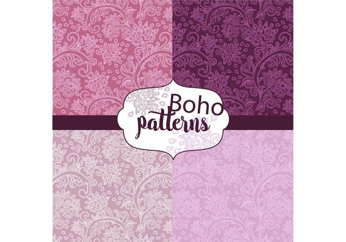 Vector set vector trendy Textile stylish style pattern set pattern paper set paper illustration hippie fashion fabric Design set design decorative decor creative boho style boho artictic art abstract
