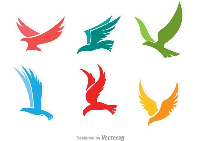 Colorful Flying Hawk Logo 109290 - WeLoveSoLo