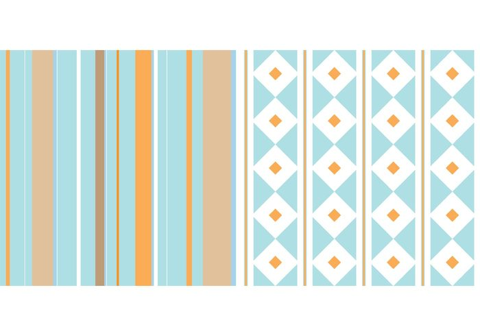 white vintage stripes retro pattern orange Nostalgic modern happy funky free premium diamond cool chic blue abstract