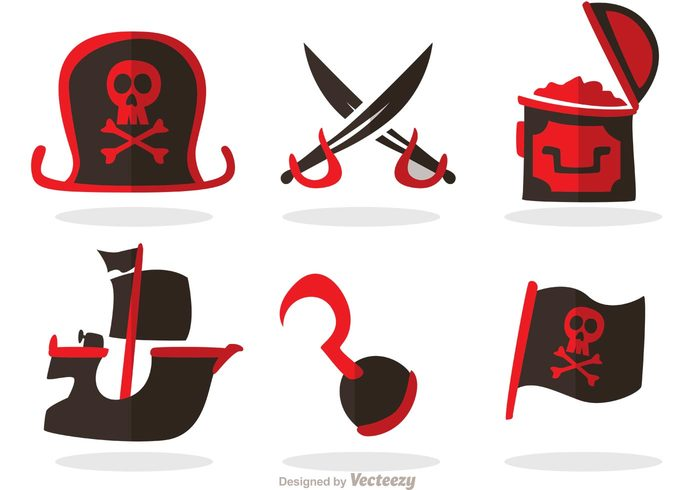 weapon vessel treasure chest treasure telescope sword skull ship rope pirate ship Pirate flag pirate Outlaw Jolly roger hook gold Eye patch danger Criminal chest captain barrel Adventure