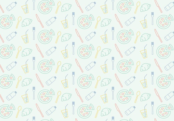 wallpaper vector trendy shapes seamless restaurant pizza oven pizza pattern pastel ornamental food drink decorative decoration deco cutlery Culinary background abstract