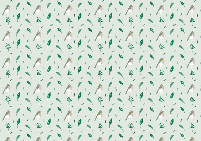 wallpaper vector trendy shapes seamless random plants pattern pastel ornamental leafs green decorative decoration deco birds birdnature background abstract