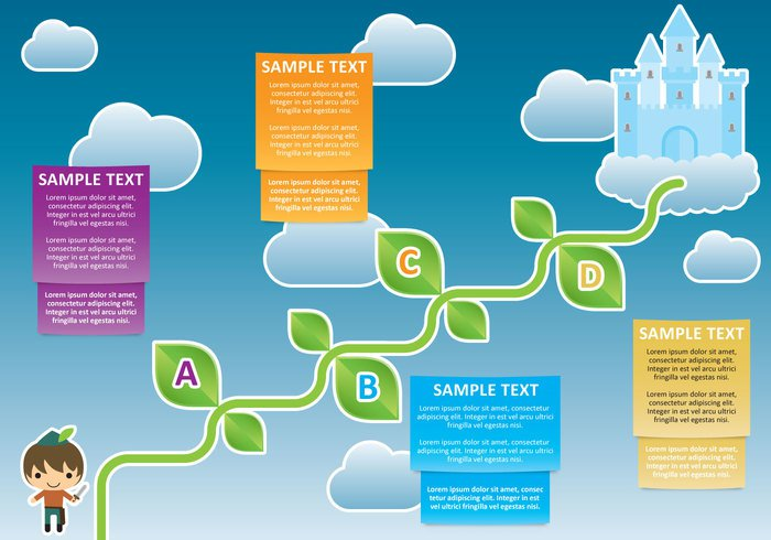 up template tall success structure strategy step stalk project progress process presentation plant plan options modern marketing magic leaf layout jack and the beanstalk jack investment Invest infographic growth growing grow graphic fairy development design concept chart card business beanstalk bean banner background arrows