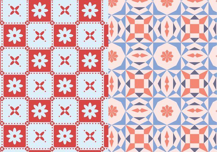 wallpaper vector trendy shapes seamless random pattern pastel ornamental motif mosaic Geometry geometric decorative decoration deco background abstract