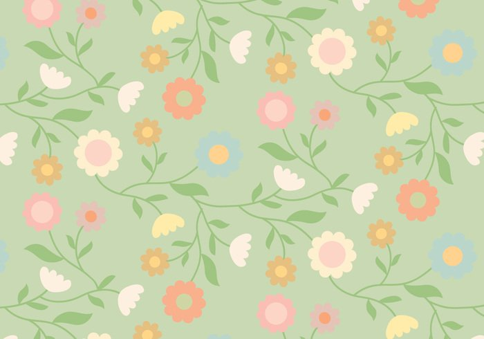 wallpaper vintage vector trendy shapes seamless random pattern pastel ornamental flower floral decorative decoration deco background abstract