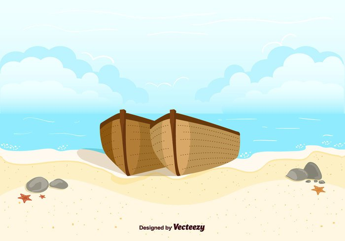 wooden vector vacation tropical sun summer sea location holidays free boats beach background