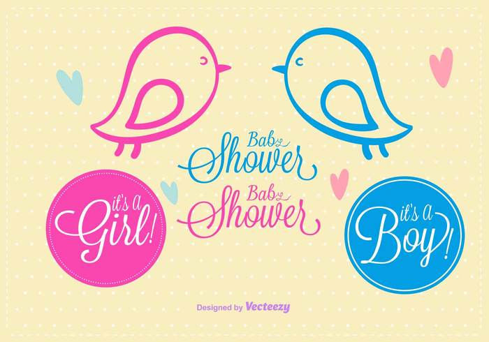text template sweet sketch shower scrapbook postcard pink party newborn baby newborn lovely little kid it's a girl it's a boy illustration happy greeting girl gift drawing doodle decoration cute Congratulate child card boy Born blue birthday bird baby shower baby background baby arrival announcement adorable