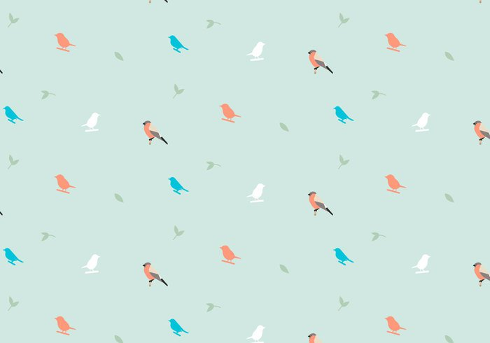 wallpaper vector trendy shapes seamless random plant pattern pastel ornamental leafs decorative decoration deco birds birdnature background animal abstract