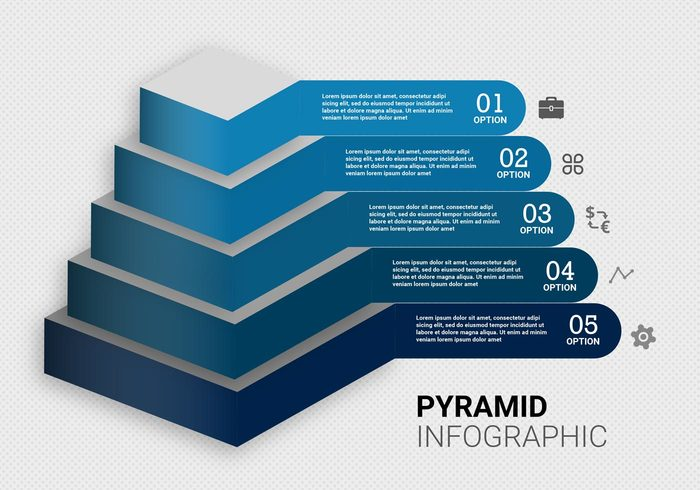 template success stage solution pyramid charts pyramid chart pyramid option banner Option next steps next step level leader layout infographics infographic growth geometric diagram concept chart Career business blue background