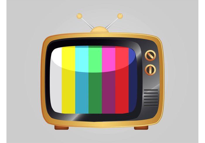 vintage television sticker shiny shine retro reflection logo icon entertainment electronics device buttons antennas