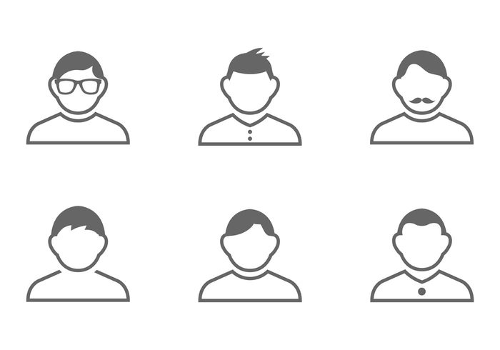 silhouette shape pictogram person moustache man icons man icon man males male icon male isolated icon Human head Hairstyle glasses figure face character buttons avatar