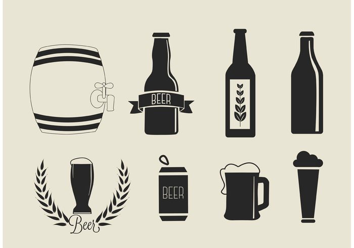 Free Vector Beer Icons Set 145037