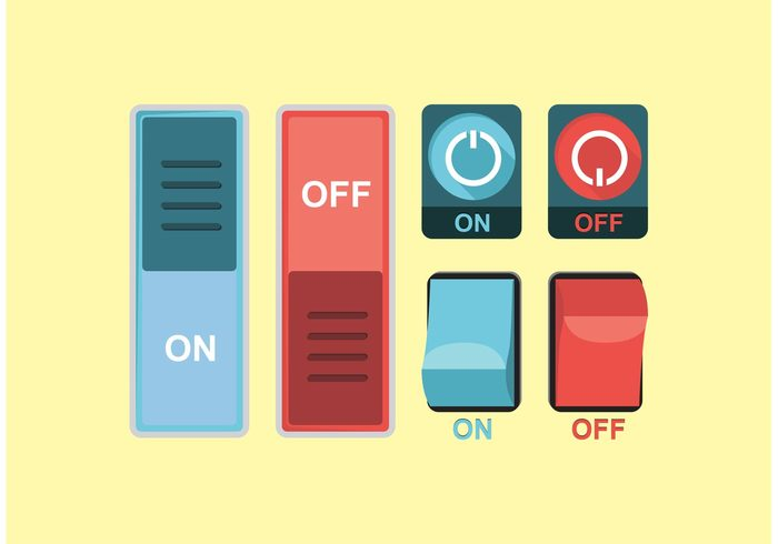 up turn up Turn on turn off turn down symbols switch power button power on switch on off button on off on button off button minimal media button light flat icons down buttons