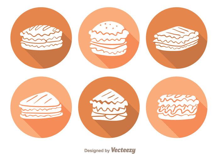 tomato toast shape sauce sandwich panini sandwiches panini sandwich panini meat meal long shadow letuce food eat delicious circle chesse bread