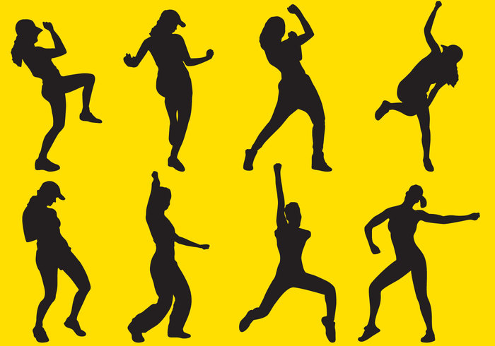 zumba young women white vector slim silhouette shape sexy set pretty people party orange nice Move motion model isolated illustration Healthy girl funny fun fitness female fashion exercise Diet dance color celebration body black beauty beautiful background Adult active action