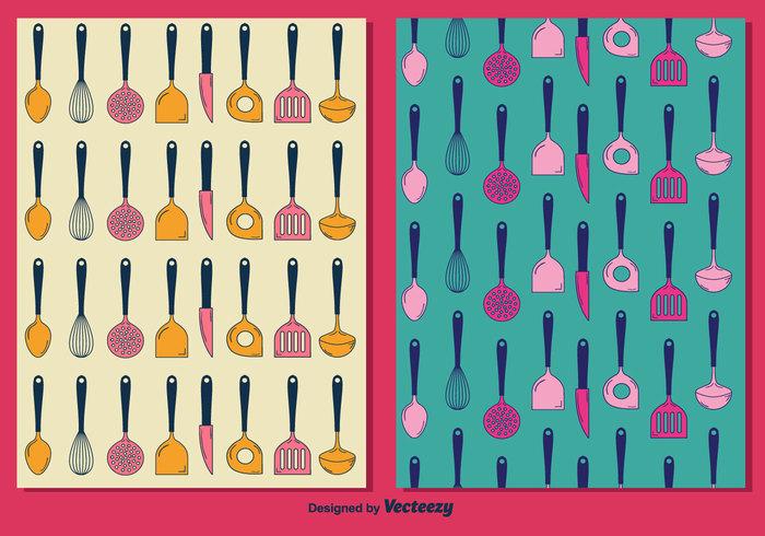 vector utensil tool spoon Spatula shovel set pattern menu knife kitchen utensils kitchen free food dish cutlery cooking collection