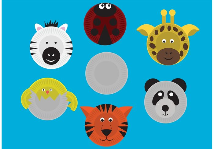 zebra tiger shape round plate plastic paper plate mask paper plate paper panda object material ladybug  sc 1 st  WeLoveSoLo & Paper Plate Masks Vectors 122649 - WeLoveSoLo