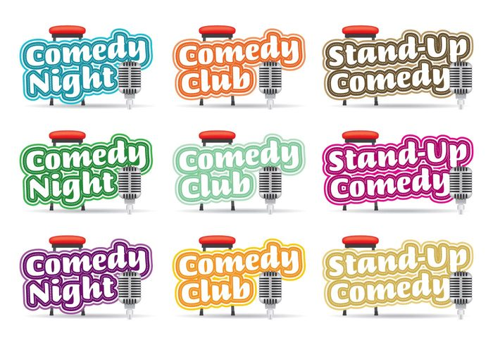 wall vector up stand spotlight Signage sign show retro poster performance night neon live lights leisure Joke illuminated humorous humor funny fun event entertainment Conceptual concept comical comic comedy club logo comedy club icon comedy club comedy comedian club black background