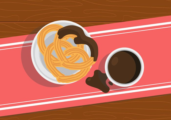 wood Treat traditional sweet sugar spanish snack shot saucer product plate pastry objects nutrition Nobody lunch hot Fried food doughnut donut dish Diet dessert delicious cup culture Cuisine cooking churros churro chocolate breakfast baking background