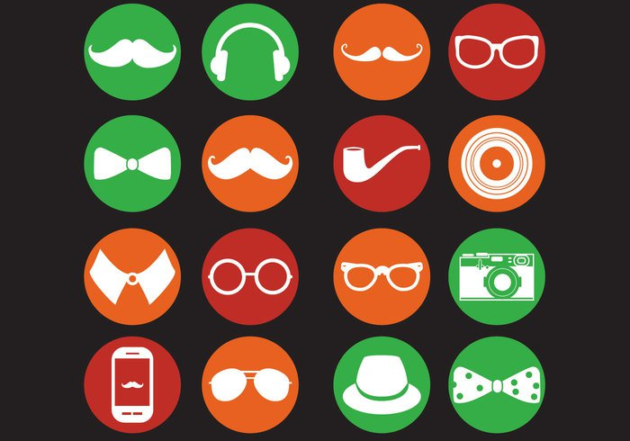 vinyl vintage vector tobacco pipe tobacco tie symbol sunglasses style smoking smart simple sign set retro record print pipe phone Pendant owl mustache moustaches Monocle modern minimalist mask lips lifestyle isolated icon hipster headphones hat group glasses fashion earphones design concept collar camera bow bike bicycle background accessory