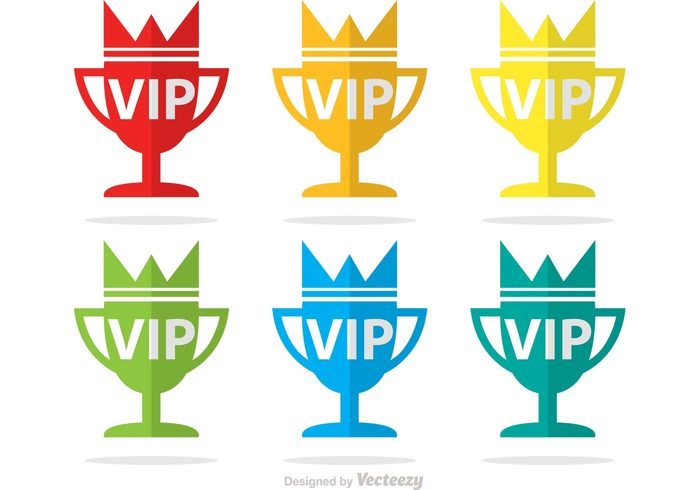 winner win vip icons vip icon vip trophy icon symbol success sign royal rich number one Membership member medal luxury important golden exclusive casino business approval