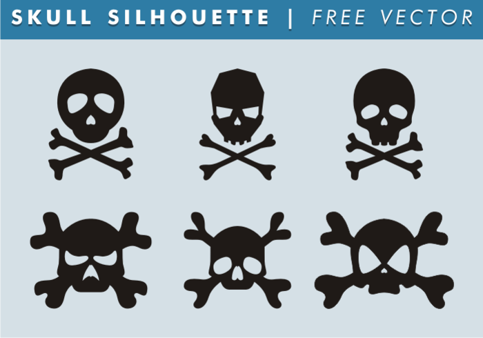 Skull & Bones Silhouette Free Vector - WeLoveSoLo