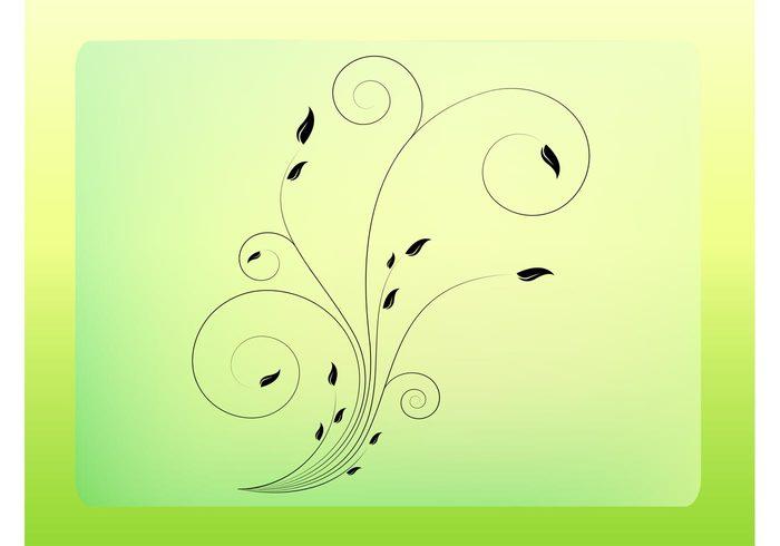 scroll plants ornate nature flowers flourish floral vector floral Filigree tattoo Filigree designs filigree Design Elements