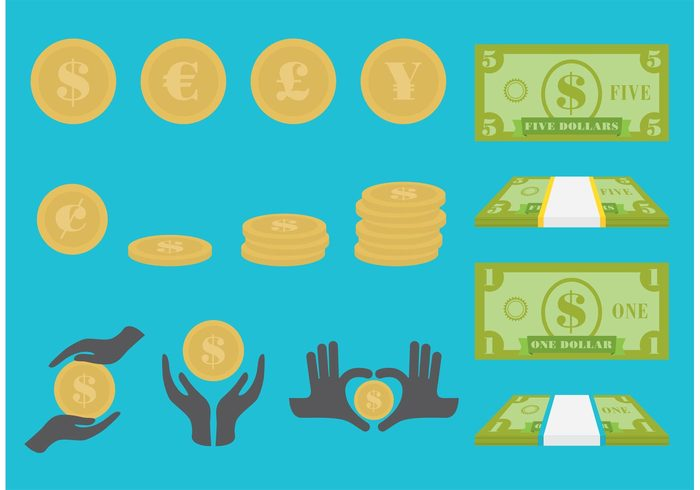 wealth purse pictogram money Loan investment hand finance Exchange currency commercial commerce coin chart cash card business bill banking 5 dollar bill 5 1 dollar bill +1