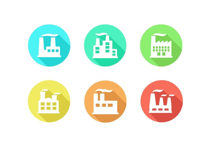 Supply production line production Power plant power nuclear power plant nuclear power minimal icon Minimal design minimal flat design flat factory icon factory factories energy company bright factory
