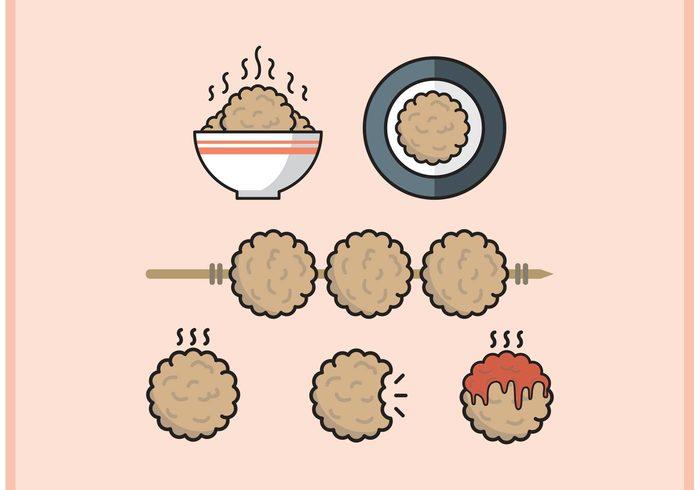 Tasty minimal meatballs meatball meat ball meat marinara lunch hot food food flat dish dinner cook bowl of food bowl ball