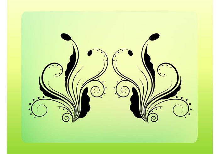 style scroll plants ornate organic nature grow flowers flourish floral Filigree tattoo Filigree designs filigree elegant