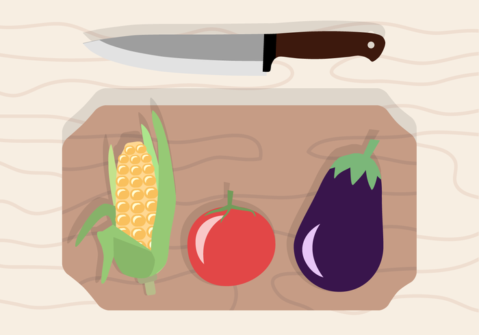 wooden Wood Board vegetables tomato plants plant knife kitchen kernel food eggplant eating ear of corn Diet cutting-board cooking cook cereal agriculture