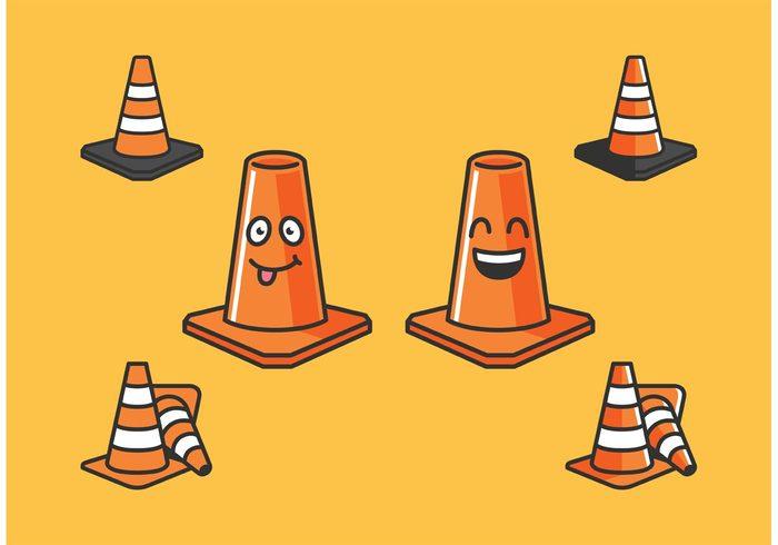traffic street safety road orange cones orange cone vector orange cone character orange cone orange cone cartoon